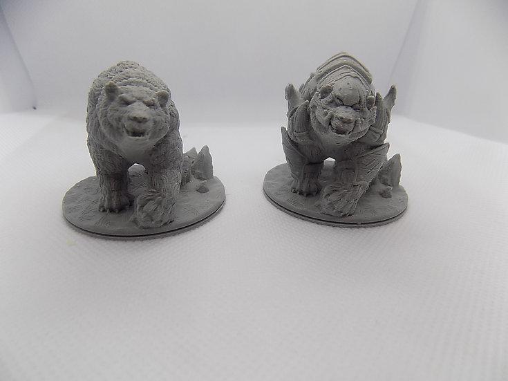 Figurines Ours 1 avec ou sans armure