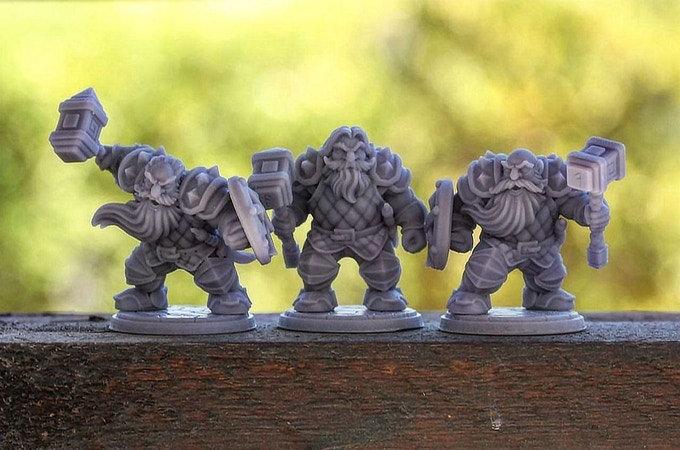 Set de 3 guerriers nains 1