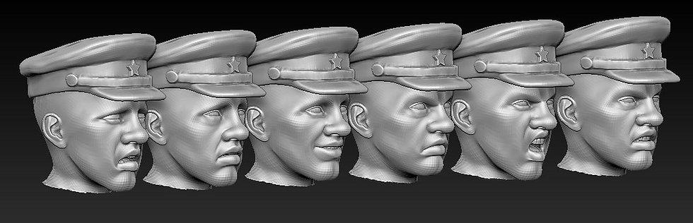 Têtes officiers russes ww2