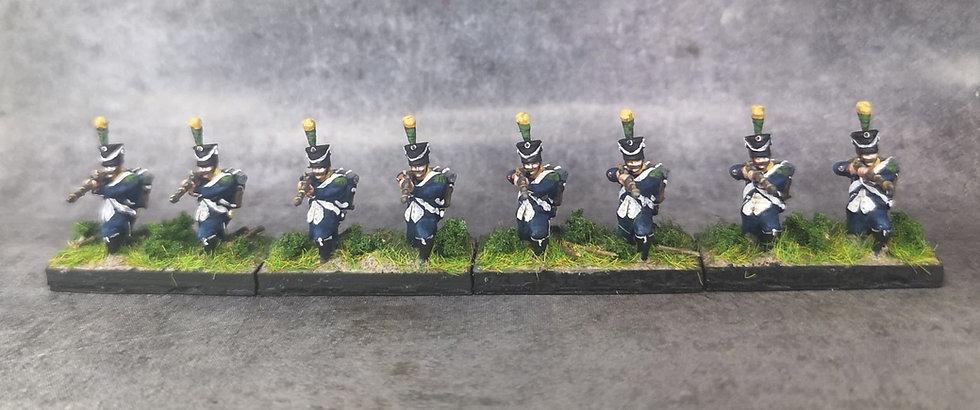 1808-1810 Infanterie française voltigeurs 18mm soclage par 2