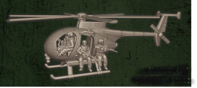 US Hélicoptère MH6
