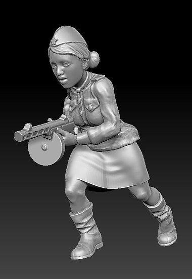 Femme Soldat russe no 12 ww2