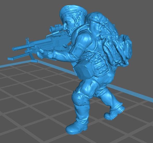 Force spéciale 2 avec bérêt et minimi (M429)