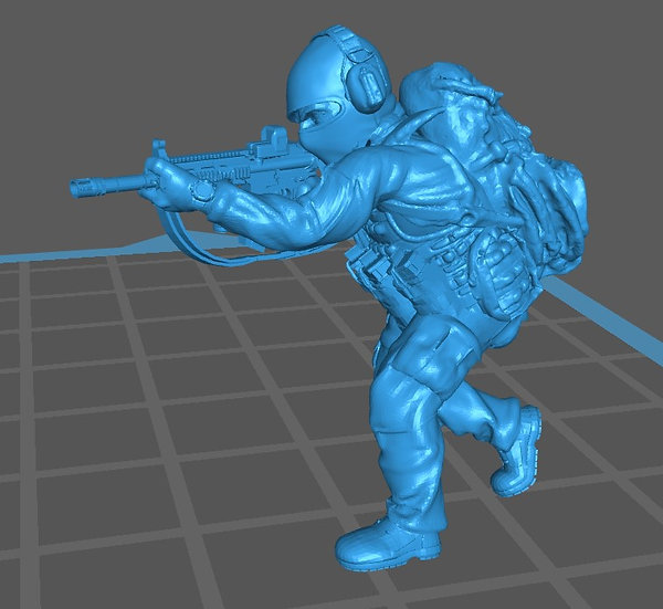Force spéciale 8 avec cagoule et HK416