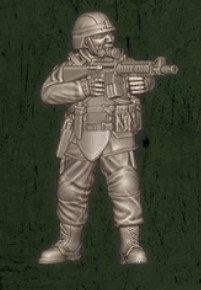 US soldat équipe Foxtrot 2