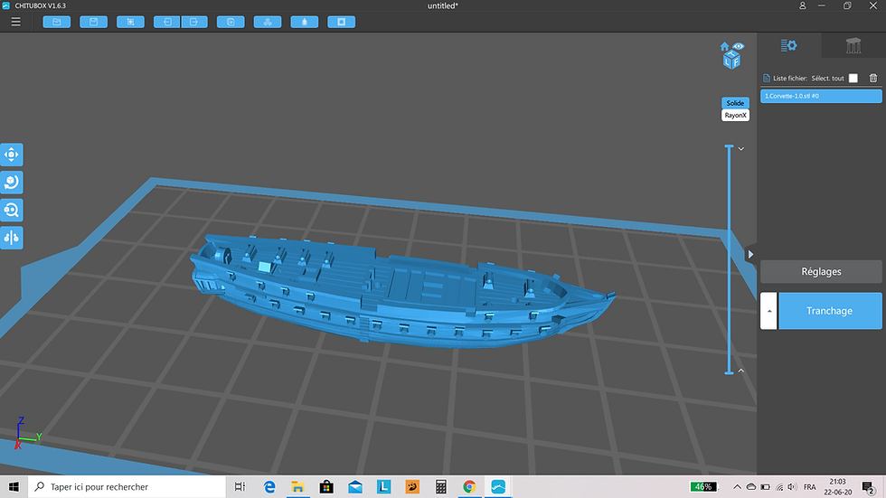 Navire Corvette1/700ème