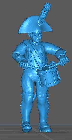 1808-1809 Grenadier espagnol tambour 18mm seul