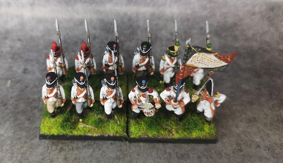 1808-1810 Infanterie de ligne française 3 18mm soclage par 3