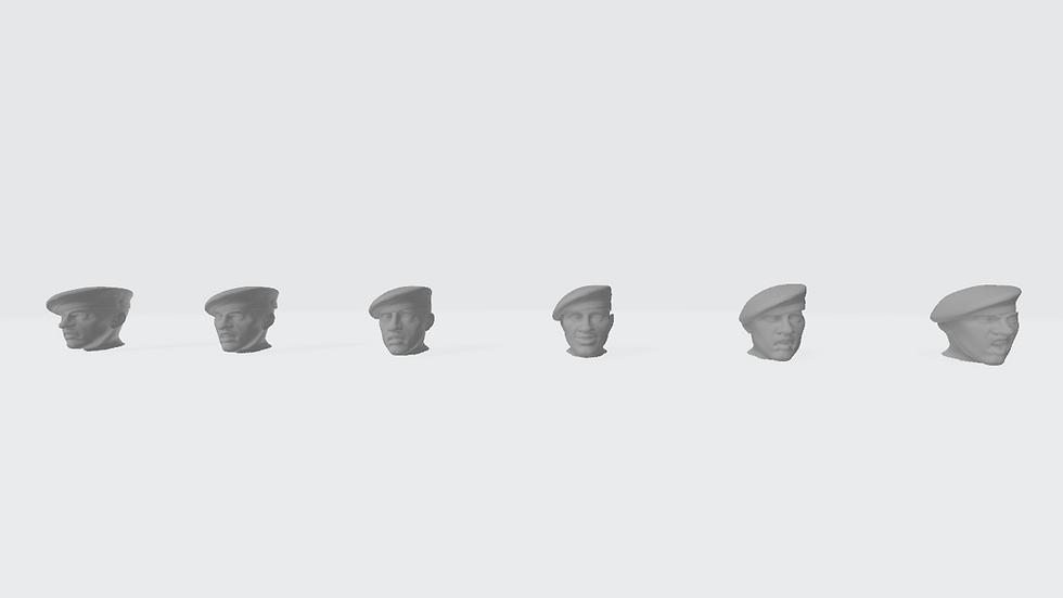 Têtes béret port à droite (commandos, SAS)