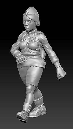 Femme Soldat russe no 01 ww2