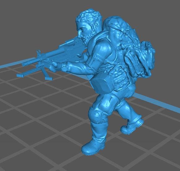 Force spéciale 2 tête nue et minimi (M429)