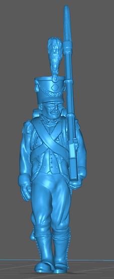1808-1810 Infanterie de ligne française 3 18mm seul
