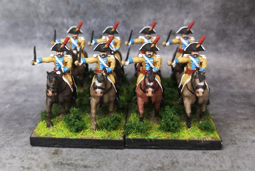 1808-1809 Dragons espagnols 18mm soclage par 2