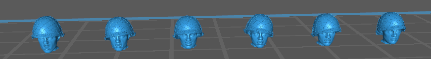 Indochine têtes français avec casque