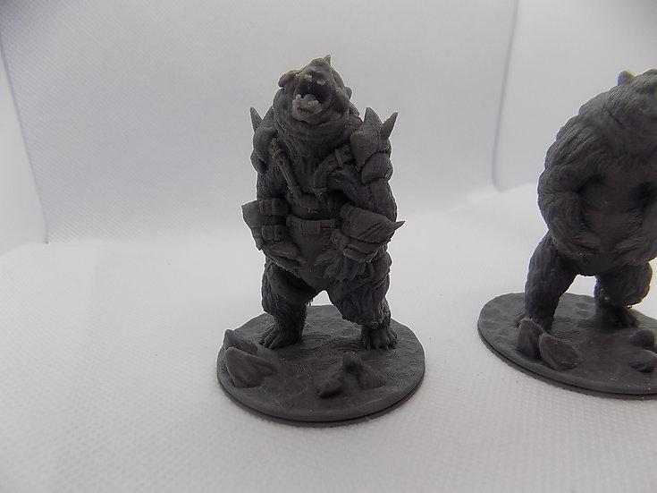Figurines Ours 3 avec ou sans armure