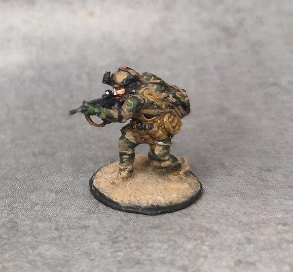 Force spéciale 6 avec casque et HK416