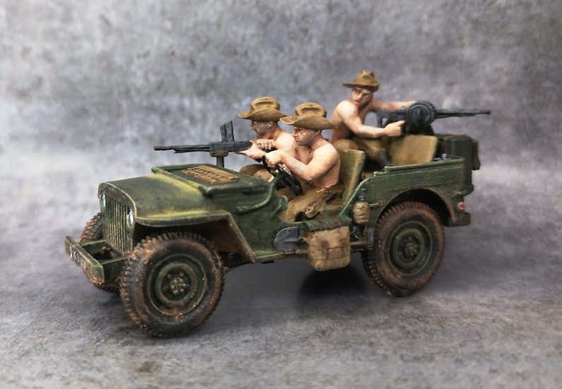 Indochine jeep française soldats avec chapeau