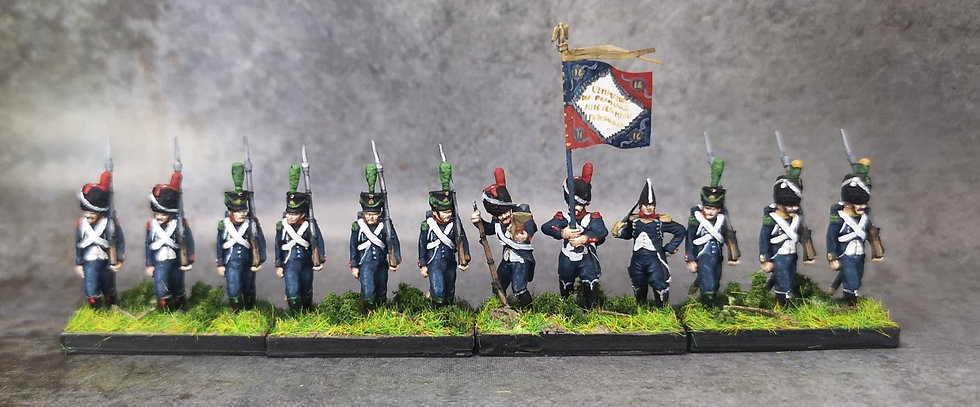 1808-1810 Infanterie légère française 3 18mm soclage par 3