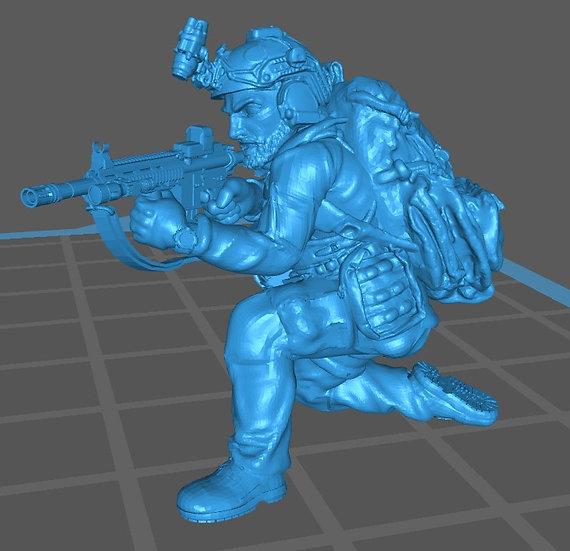 Force spéciale 3 avec casque et HK416