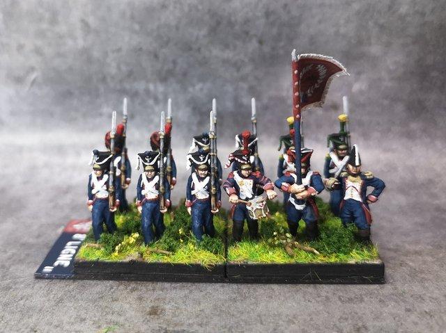 1812-1813 Infanterie de ligne polonaise 1 18mm soclage par 3