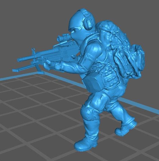 Force spéciale 2 avec cagoule et minimi (M429)