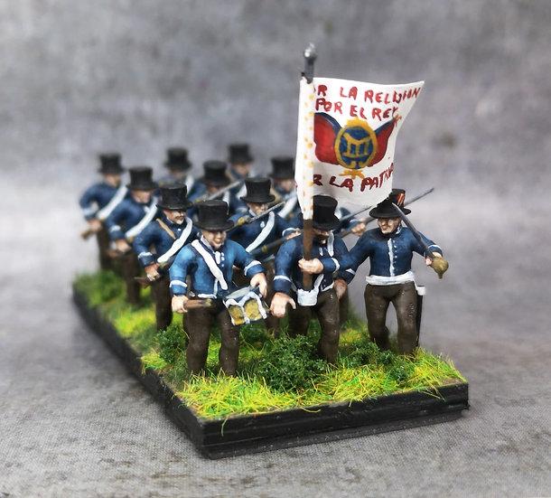1808-1809 Milice espagnole commandement 18mm soclage par 3