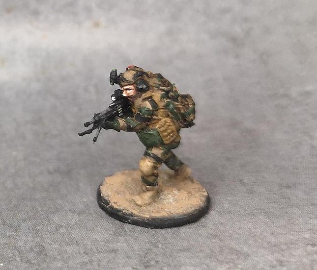 Force spéciale 2 avec casque et minimi (M429)