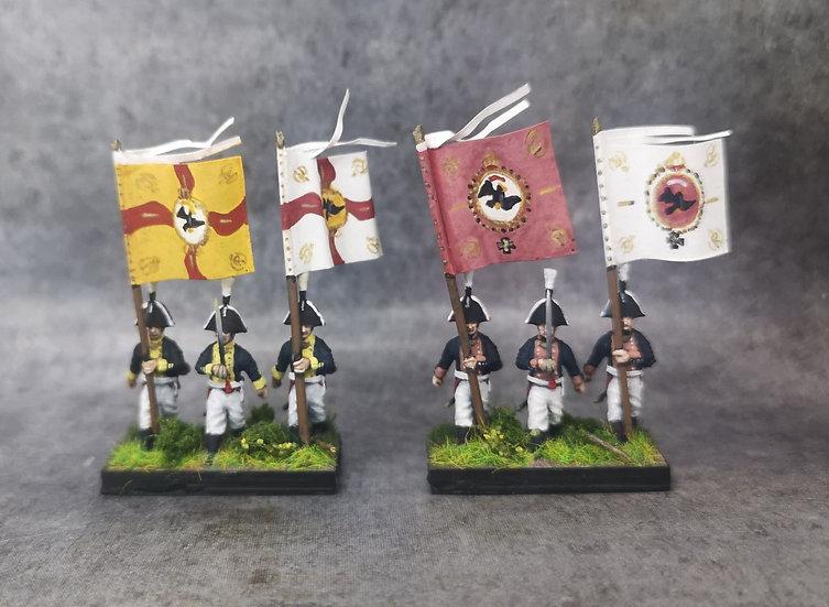 1806 Infanterie prussienne commandement 18mm soclage par 3