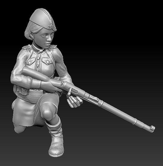 Femme Soldat russe no 04 ww2