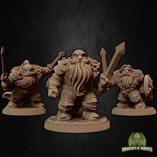 Set de 3 guerriers nains 5