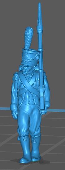 1808-1810 Infanterie légère française 4 18mm seul
