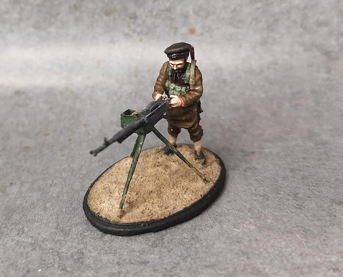 Moudjahidine 10 avec mitrailleuse