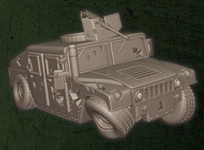 US Humvee détruit