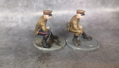 Officier russe assis ww2
