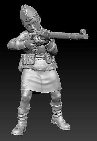 Femme Soldat russe no 03 ww2