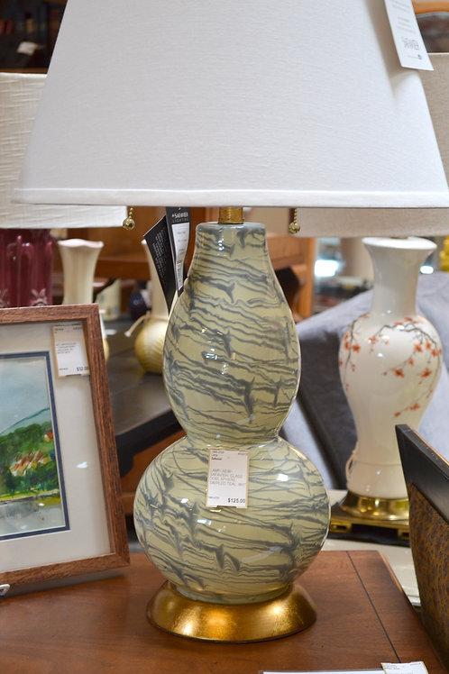 Lamp- Safavieh glass modern gorde lamp