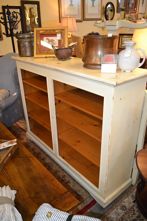 HIGH END PAINTED WOODEN BOOKCASE