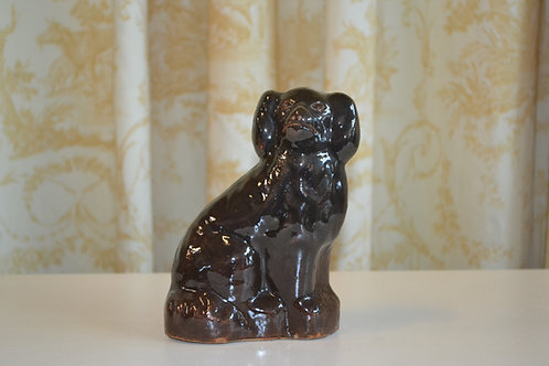 Antique heavy pottery Staffordshire spaniel