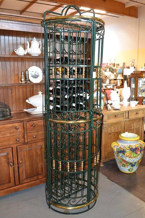 Custom French iron wine rack