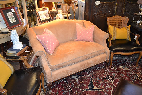 CHIPPENDALE BALL AND CLAW LEG FRENCH SETTEE