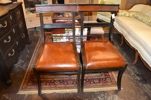 PAIR! - LEATHER SIDE CHAIRS, RETAIL 1595 EA!