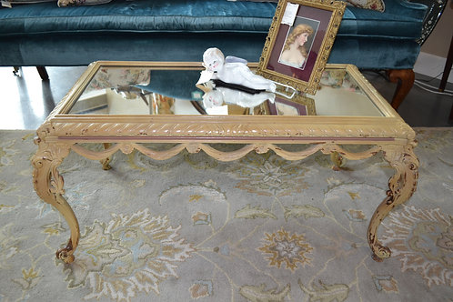 Vintage French Mirrored Coffee Table