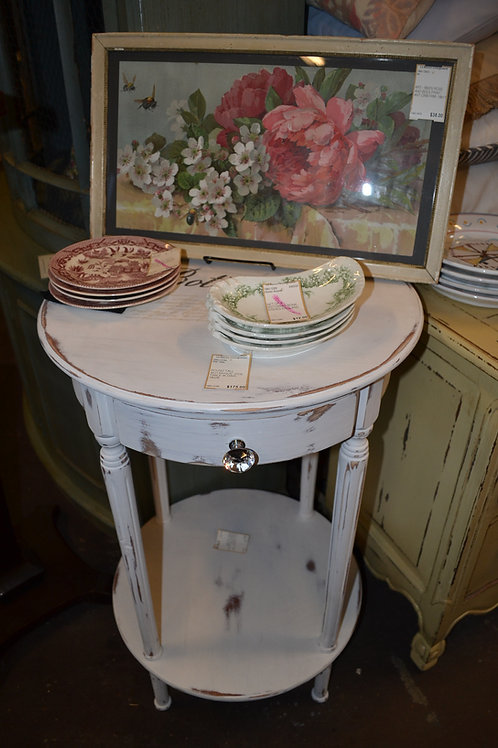 ROUND TALL 'BOTANIQUE' SIDE TABLE