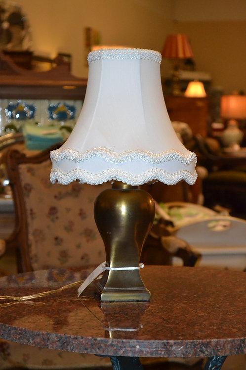 Lamp- Miniantique brass cast lamp