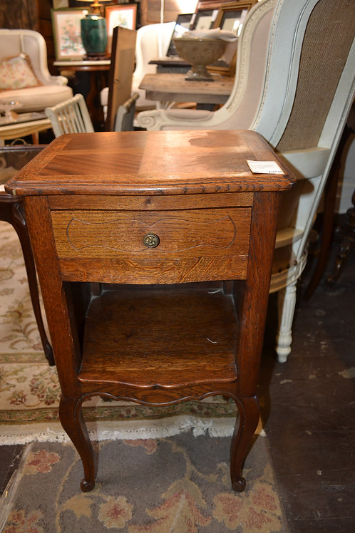 ANTIQUE FRENCH PETITE CARVED NIGHTSTAND- 15x13x26