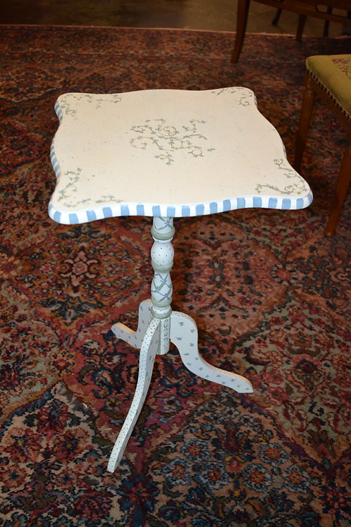 Sweet hand painted pedestal side table