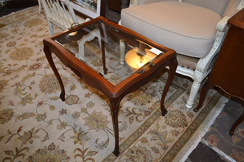 ANT FRENCH PETITE GLASS TOP TRAY TOP COFFEE TABLE