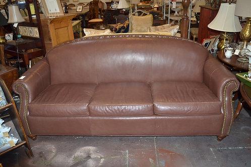 Drexel leather nailhead sofa
