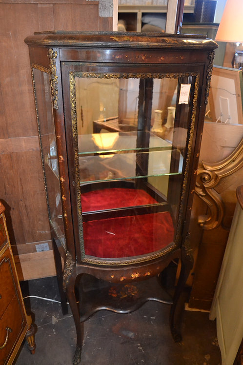 ANTIQUE FRENCH HAND PAINTED VITRINE