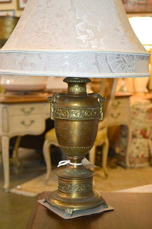 Lamp- Fabulous antique French gilded metal urn
